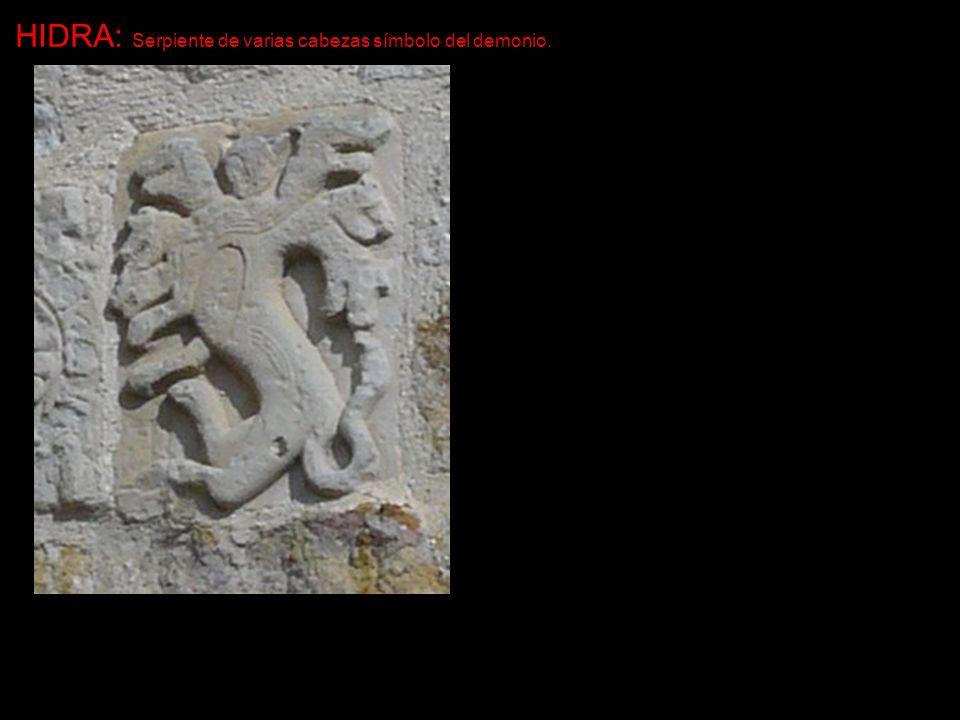 HIDRA: Serpiente de varias cabezas símbolo del demonio.