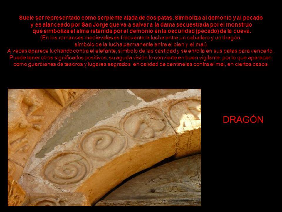 DRAGÓN Suele ser representado como serpiente alada de dos patas.