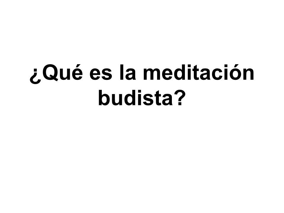 ¿Qué es la meditación budista?
