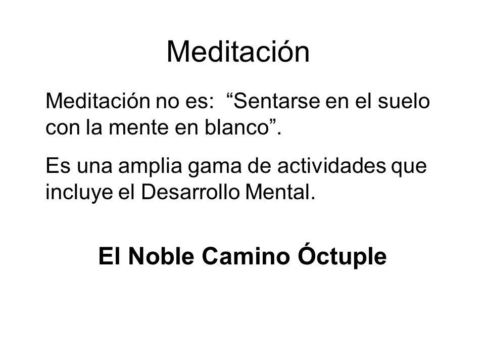 Meditación Meditación no es: Sentarse en el suelo con la mente en blanco.