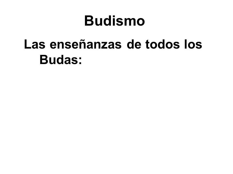 Las enseñanzas de todos los Budas: Avoid evil Do good Purify our minds – Through Meditation!