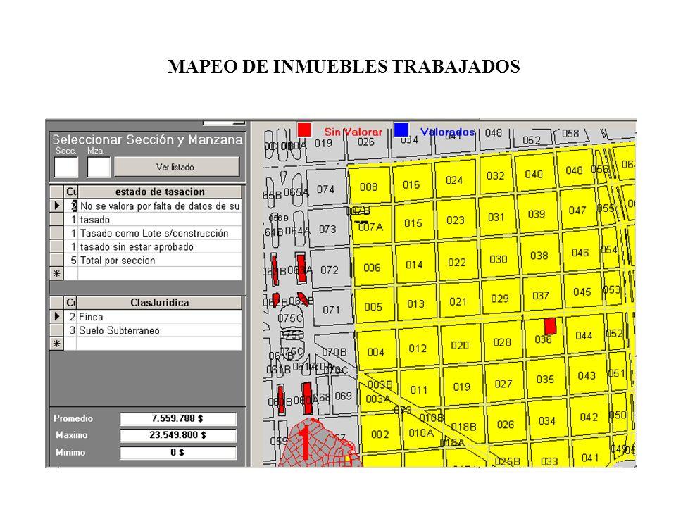 MAPEO DE INMUEBLES TRABAJADOS