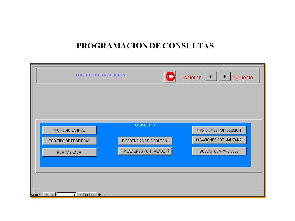 PROGRAMACION DE CONSULTAS