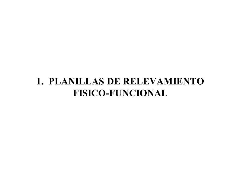 1. PLANILLAS DE RELEVAMIENTO FISICO-FUNCIONAL