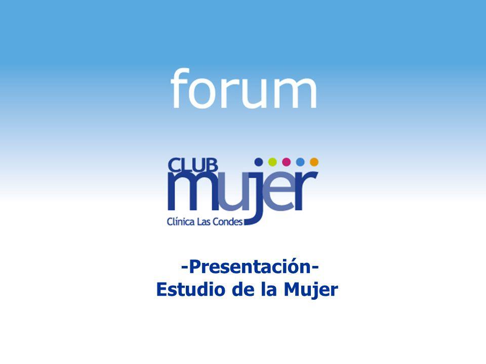 1 Estudio Mujer Madura, Mayo 2005 -Presentación- Estudio de la Mujer
