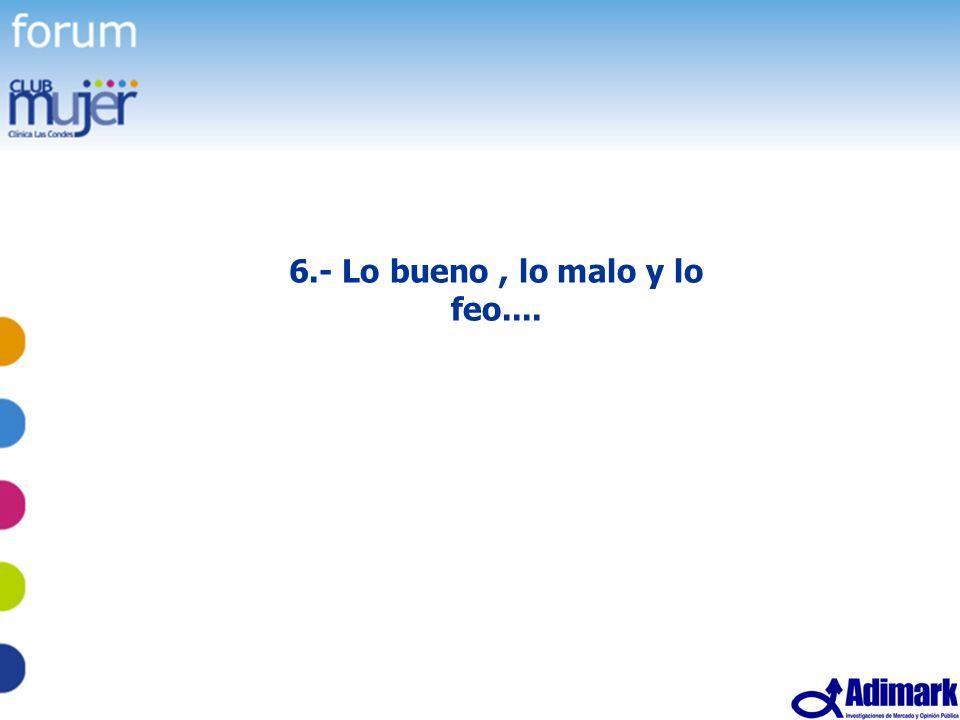 58 Estudio Mujer Madura, Mayo 2005 6.- Lo bueno, lo malo y lo feo....