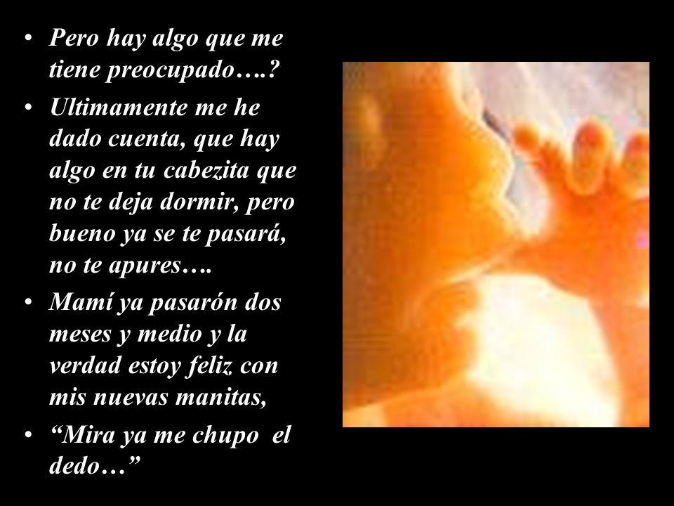 Mamita, dime que te pasa, porque lloras, porque cuando Papi y tú se ven se gritan tanto?…..