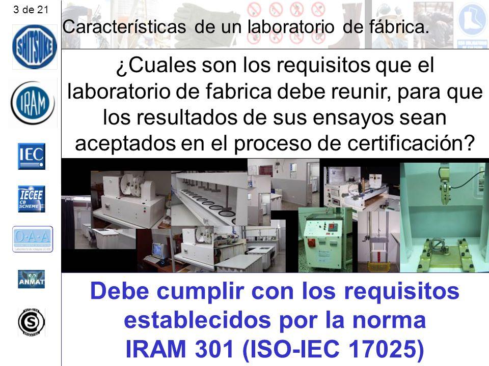Características de un laboratorio de fábrica.Porque.