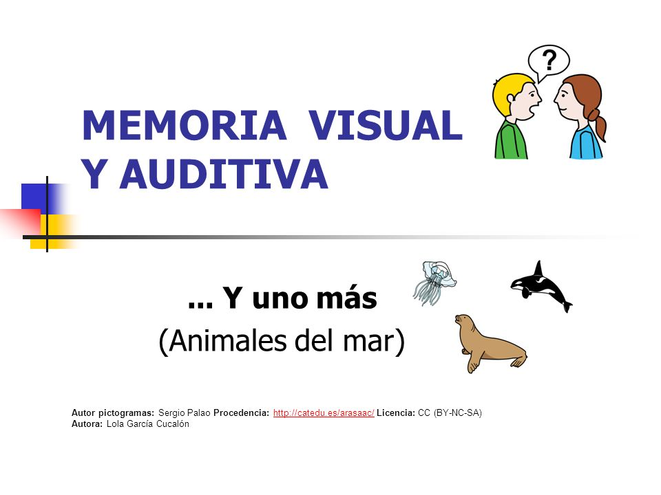 MEMORIA VISUAL Y AUDITIVA...
