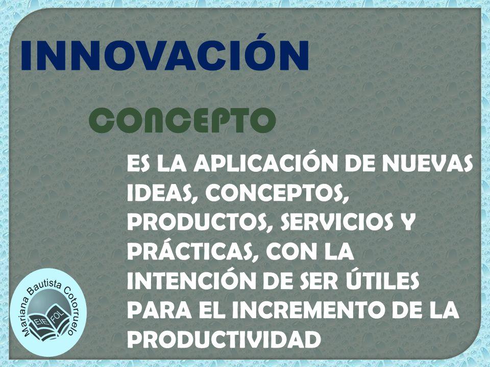 INNOVACIÓN EN EL PROCESO IMPLICA CAMBIOS EN LA FORMA DE PRODUCIR.