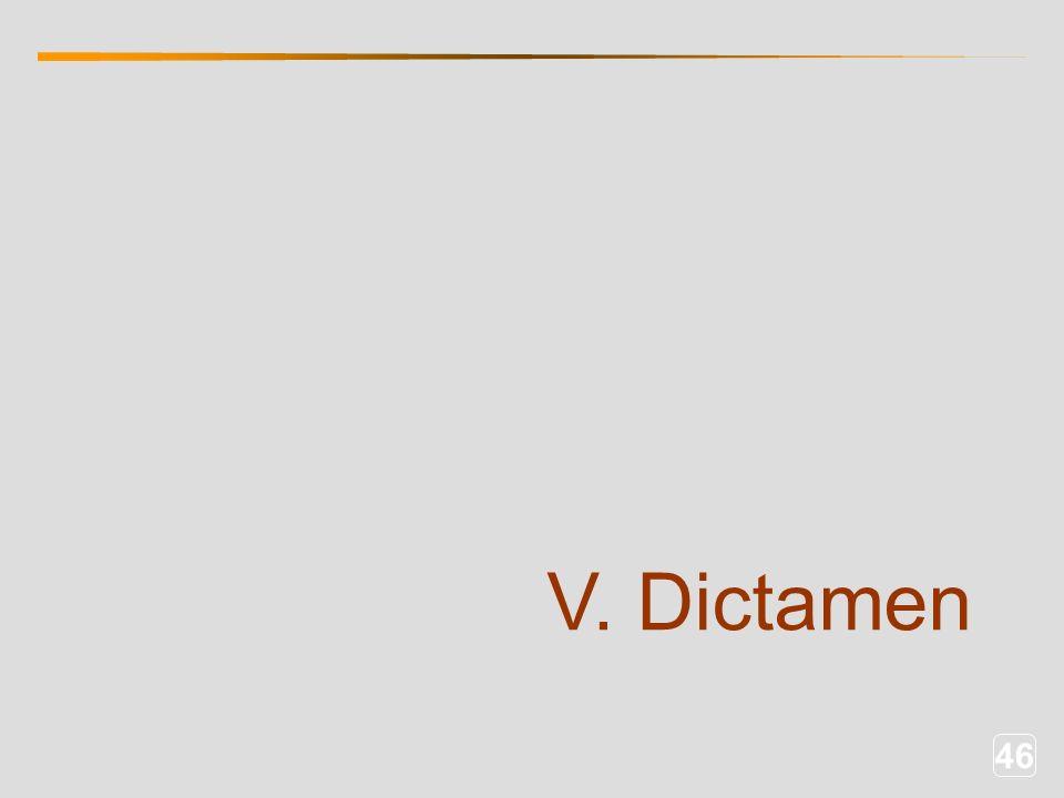 46 V. Dictamen