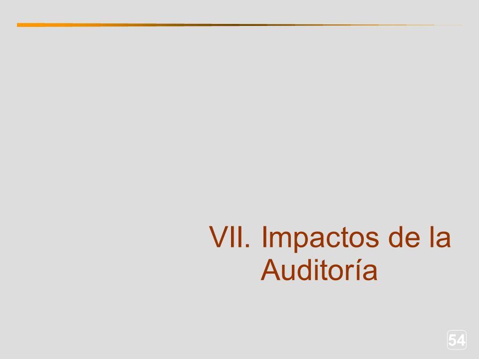 54 VII. Impactos de la Auditoría