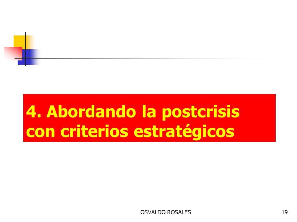 OSVALDO ROSALES19 4. Abordando la postcrisis con criterios estratégicos