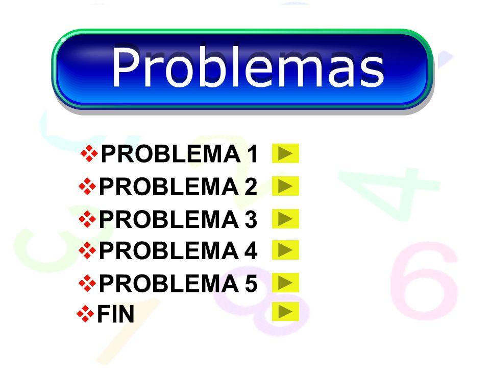 PROBLEMA 1 PROBLEMA 2 PROBLEMA 3 PROBLEMA 4 PROBLEMA 5 FIN