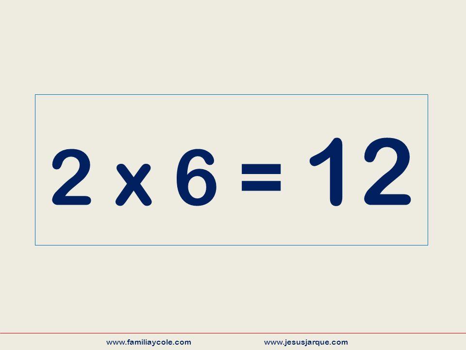 2 x 6 = 12 www.familiaycole.com www.jesusjarque.com