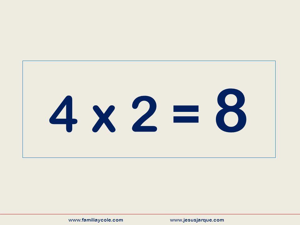 4 x 2 = 8 www.familiaycole.com www.jesusjarque.com