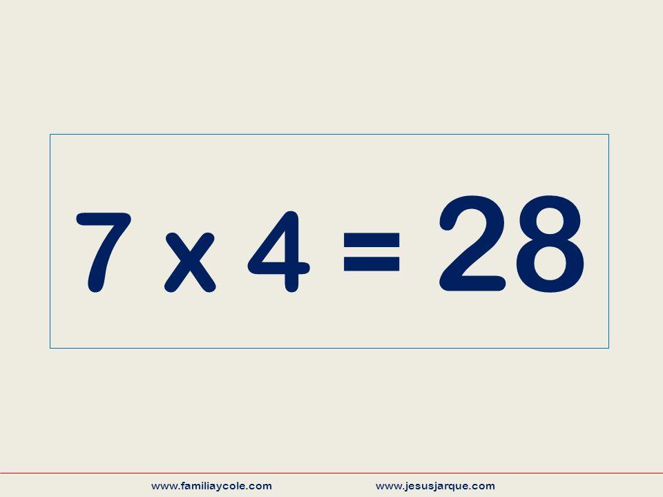 7 x 4 = 28 www.familiaycole.com www.jesusjarque.com
