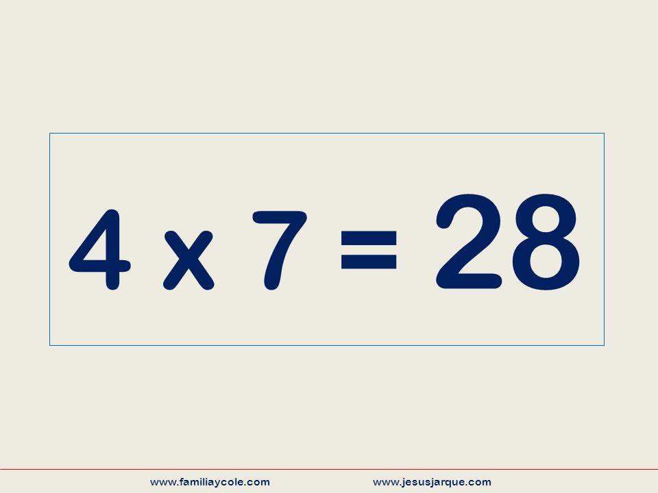 4 x 7 = 28 www.familiaycole.com www.jesusjarque.com