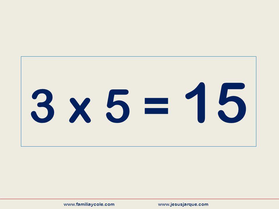 3 x 5 = 15 www.familiaycole.com www.jesusjarque.com