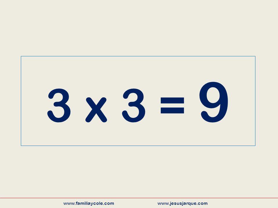 3 x 3 = 9 www.familiaycole.com www.jesusjarque.com