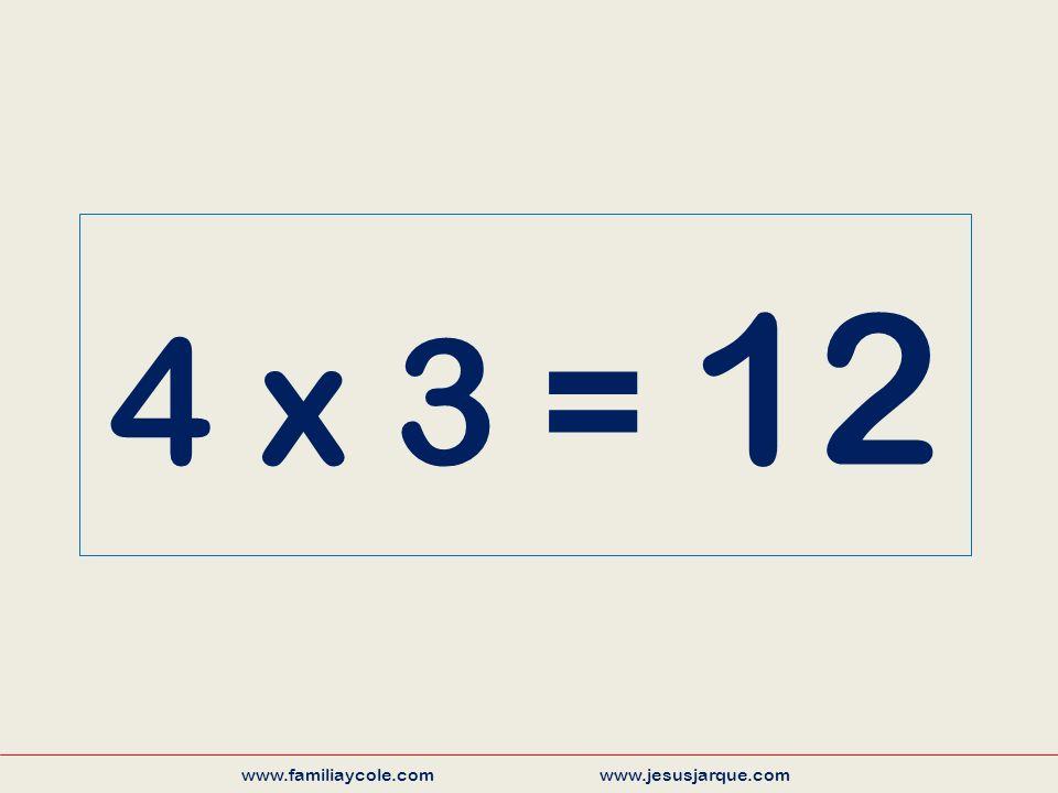 4 x 3 = 12 www.familiaycole.com www.jesusjarque.com