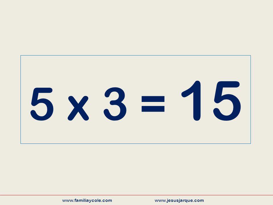 5 x 3 = 15 www.familiaycole.com www.jesusjarque.com