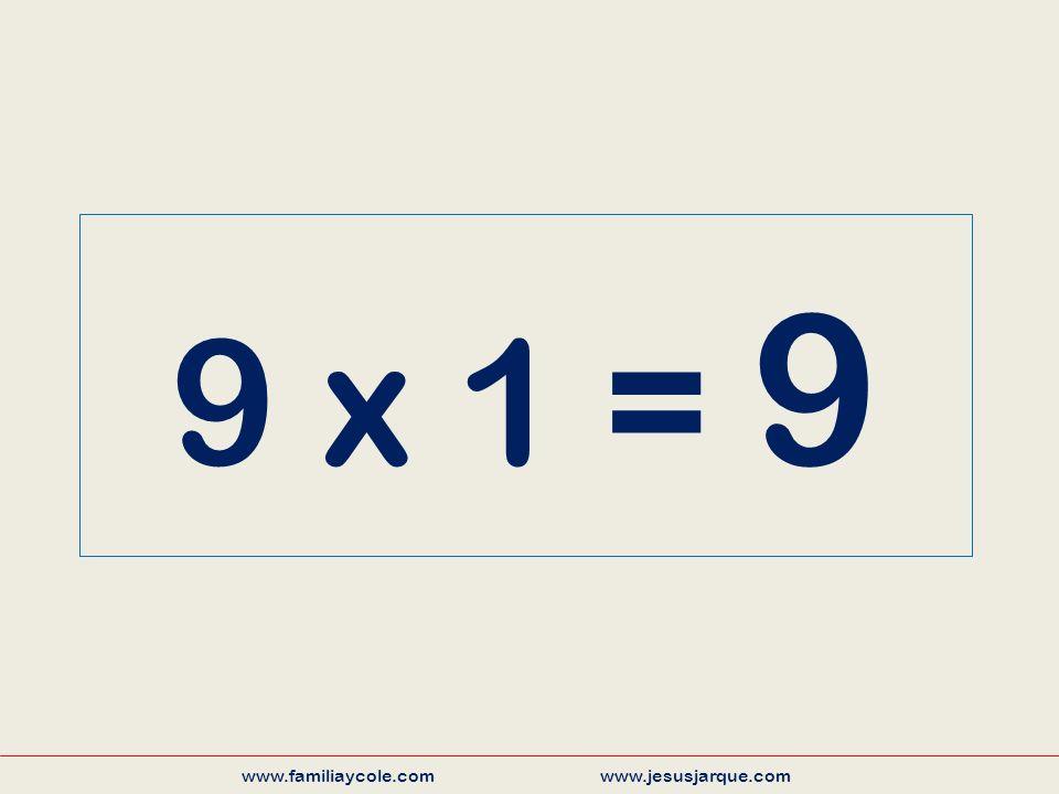 9 x 1 = 9 www.familiaycole.com www.jesusjarque.com