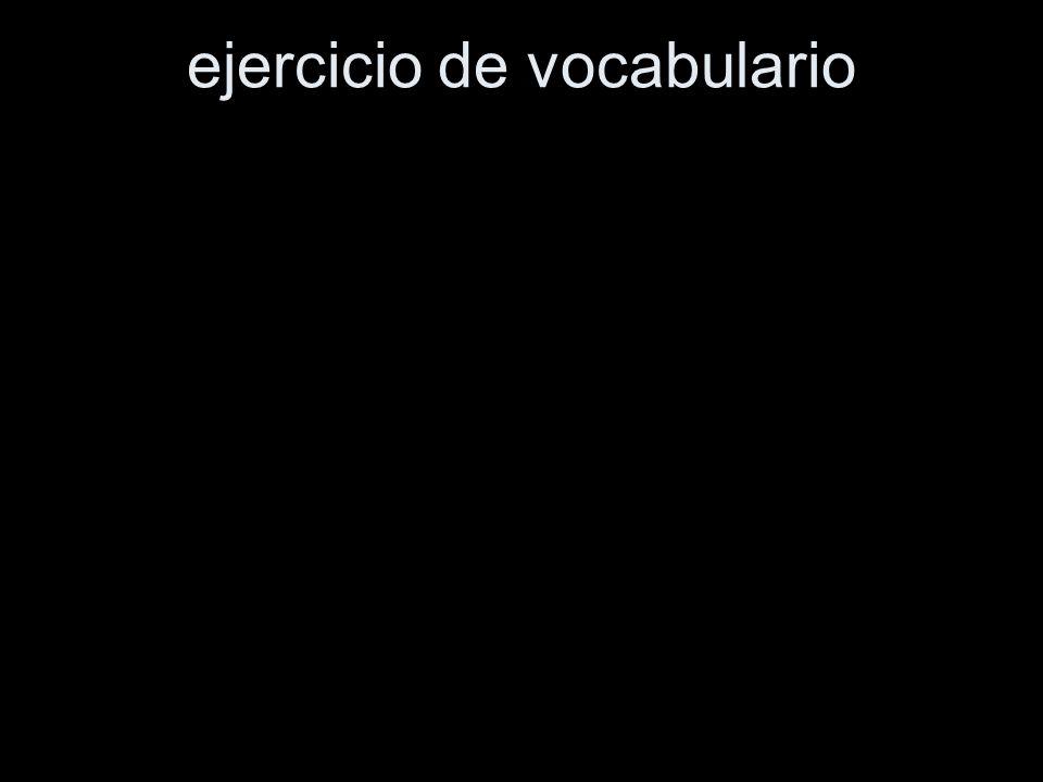 ejercicio de vocabulario