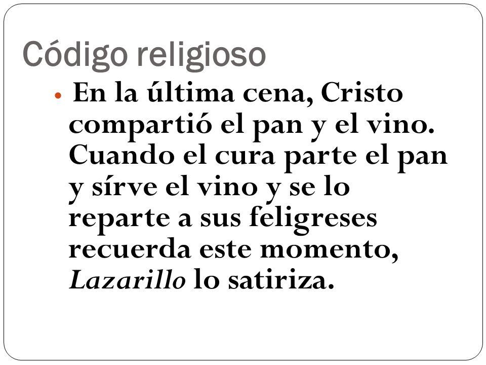 Código religioso En la última cena, Cristo compartió el pan y el vino. Cuando el cura parte el pan y sírve el vino y se lo reparte a sus feligreses re