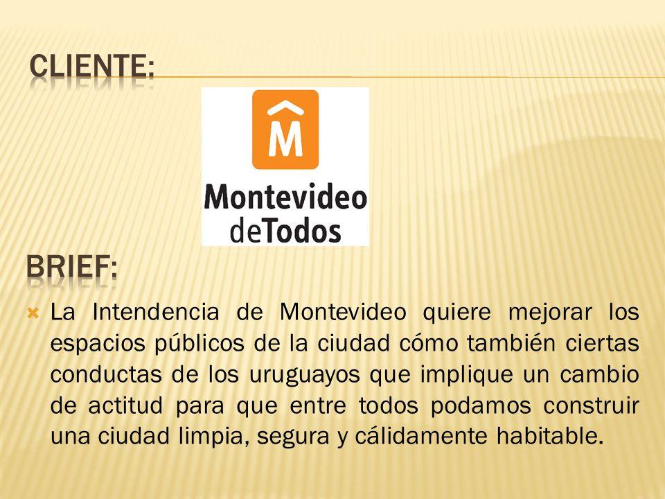 La Intendencia de Montevideo quiere mejorar los espacios públicos de la ciudad cómo también ciertas conductas de los uruguayos que implique un cambio de actitud para que entre todos podamos construir una ciudad limpia, segura y cálidamente habitable.