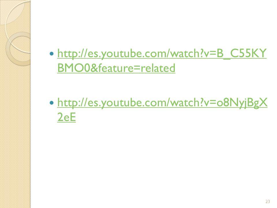 http://es.youtube.com/watch?v=B_C55KY BMO0&feature=related http://es.youtube.com/watch?v=B_C55KY BMO0&feature=related http://es.youtube.com/watch?v=o8