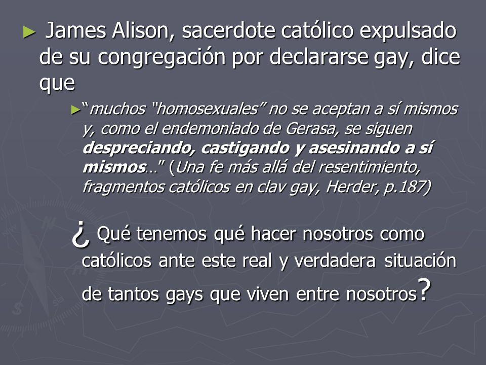 James Alison, sacerdote católico expulsado de su congregación por declararse gay, dice que James Alison, sacerdote católico expulsado de su congregaci