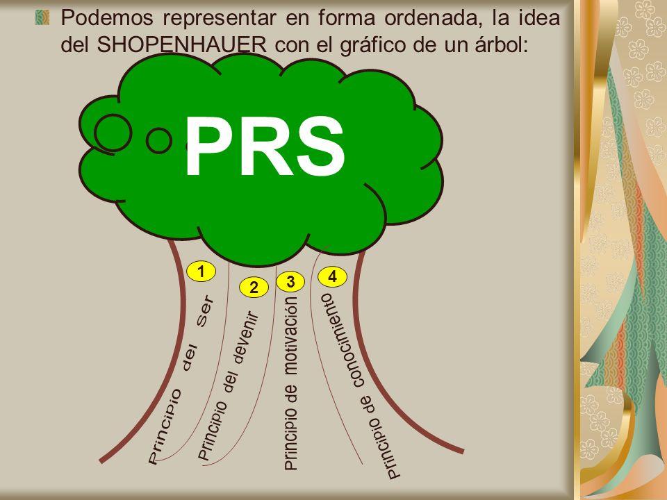 Podemos representar en forma ordenada, la idea del SHOPENHAUER con el gráfico de un árbol: 1 2 3 4 PRS