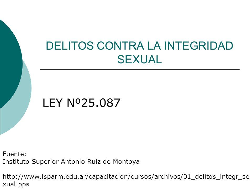 DELITOS CONTRA LA INTEGRIDAD SEXUAL Antes de la reforma el TITULO 3 del C.