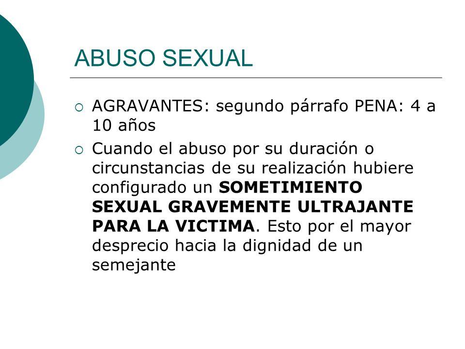 Denuncia del abuso sexual Todo abuso sexual es un delito, sancionado por el Estado con pena de privación de la libertad para el culpable