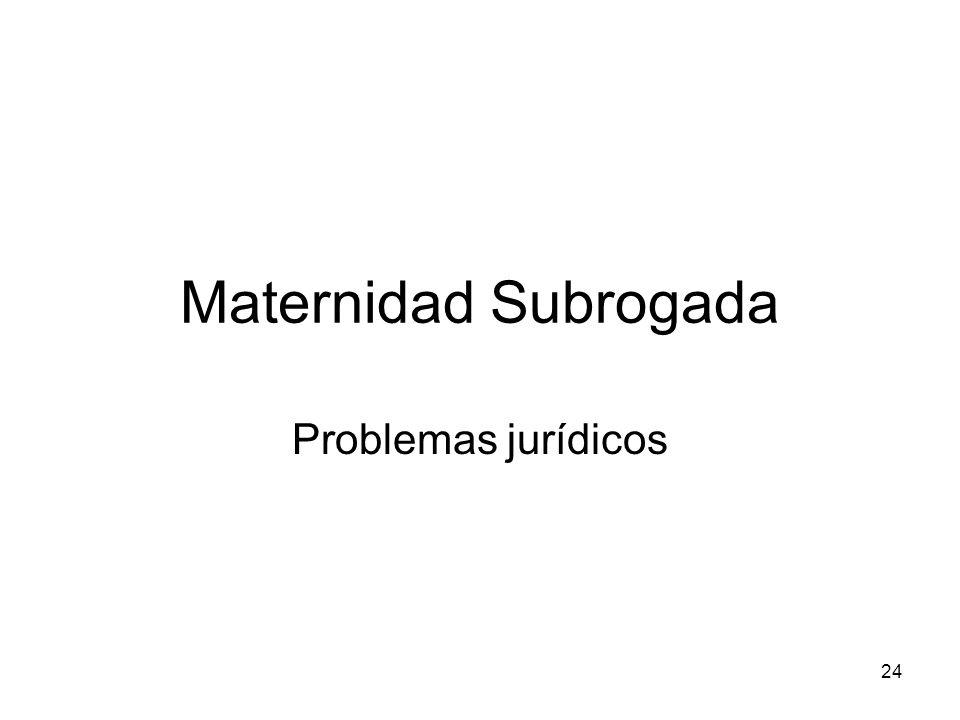 Maternidad Subrogada Problemas jurídicos 24