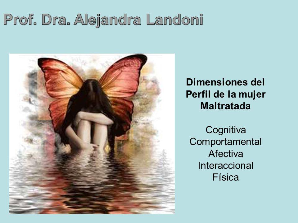 Dimensiones del Perfil de la mujer Maltratada Cognitiva Comportamental Afectiva Interaccional Física