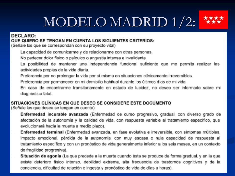 MODELO MADRID 1/2: MODELO MADRID 1/2: