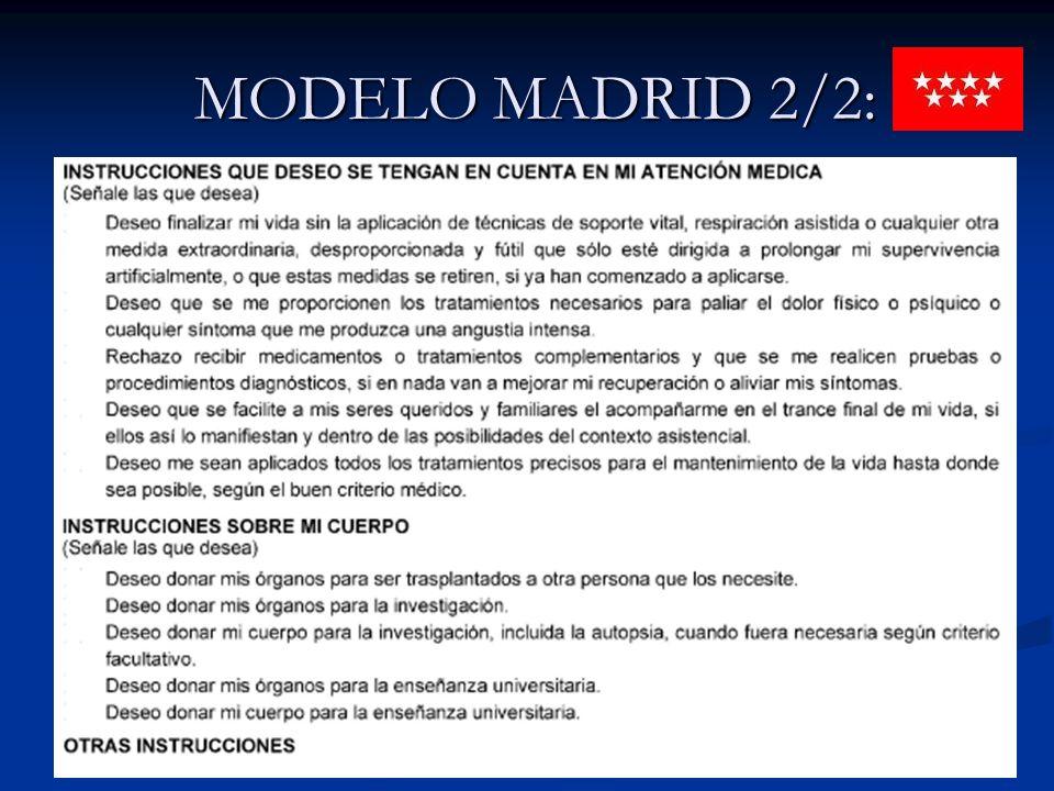 MODELO MADRID 2/2: MODELO MADRID 2/2: