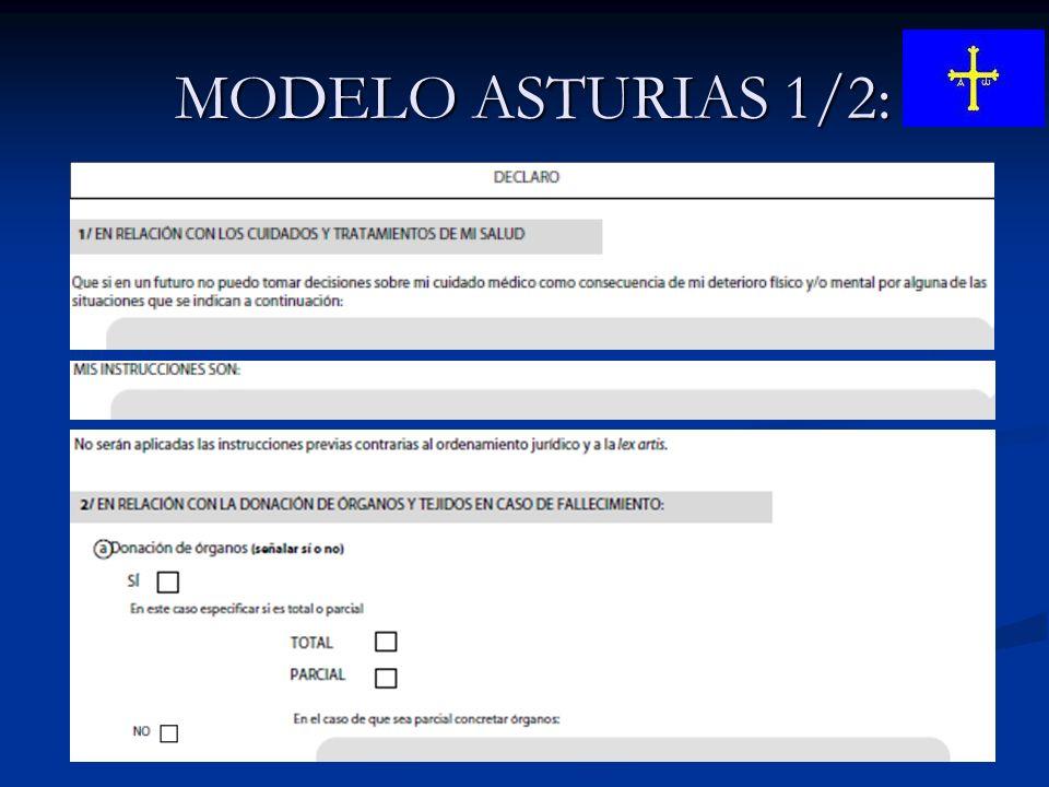 MODELO ASTURIAS 1/2: MODELO ASTURIAS 1/2: