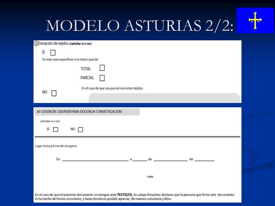 MODELO ASTURIAS 2/2: MODELO ASTURIAS 2/2: