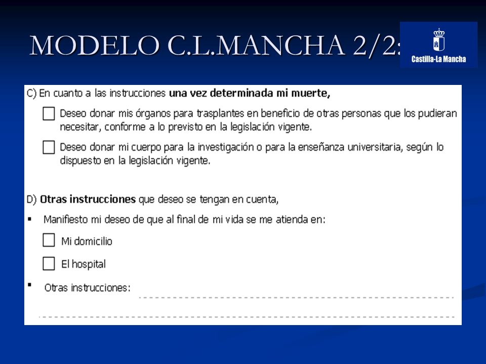 MODELO C.L.MANCHA 2/2:
