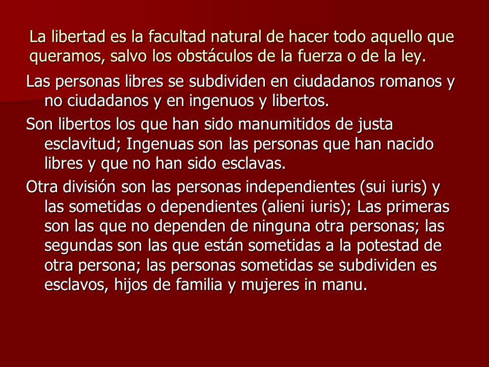 Disolución del Matrimonio El matrimonio se disuelve por: 1.- La esclavitud como pena del derecho civil (capitis diminutio máxima) y por la pérdida de la ciudadanía (capitis diminutio media).