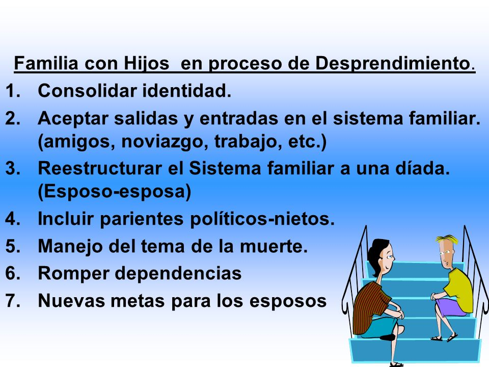 Familia con Hijos en proceso de Desprendimiento. 1.Consolidar identidad.