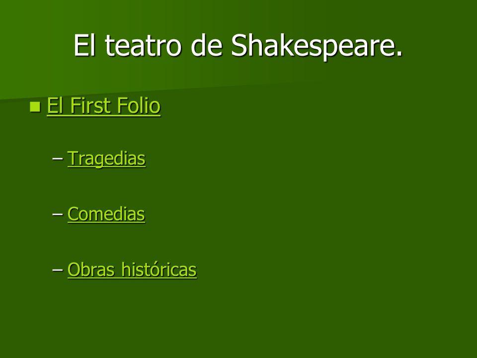 El teatro de Shakespeare.