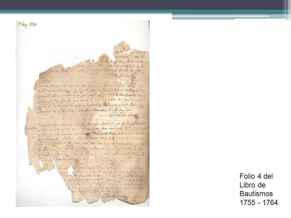 Bautismos: nombres nativos (Se han localizado 57 Bautismos de estas características) Ejemplo: Guaparí y Arembó Juan Faustino - …Yo el Dr.