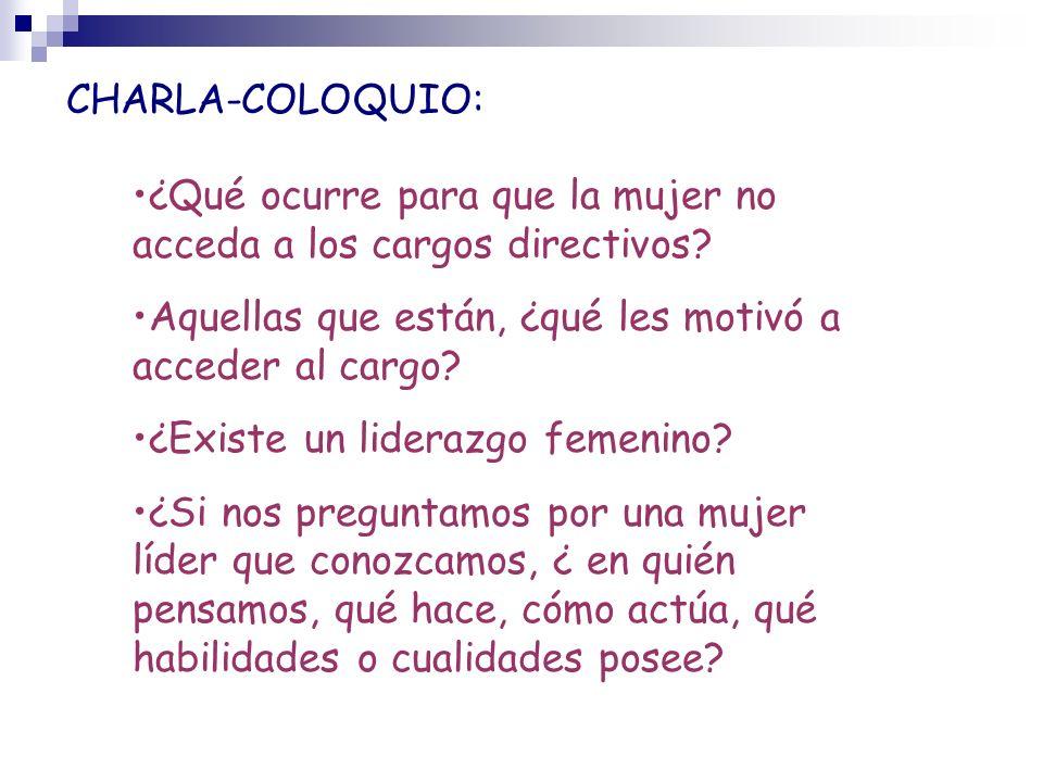 CHARLA-COLOQUIO: ¿Qué ocurre para que la mujer no acceda a los cargos directivos.