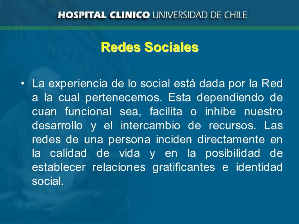 Redes Sociales La experiencia de lo social está dada por la Red a la cual pertenecemos.