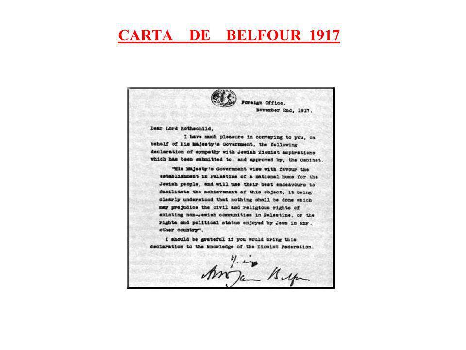 CARTA DE BELFOUR 1917
