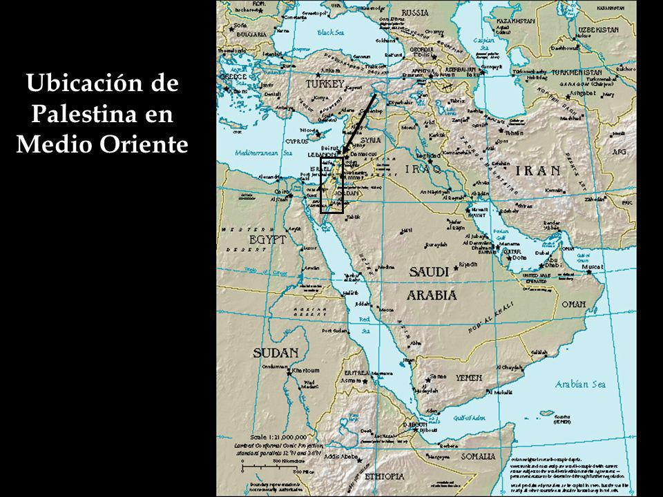 Ubicación de Palestina en Medio Oriente